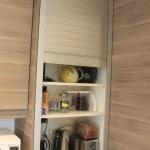 Custom kitchen appliance cabinet