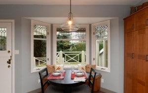kitchen reno breakfast table view